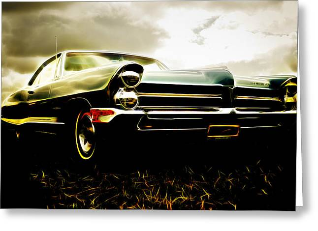 D700 Photographs Greeting Cards - 1965 Pontiac Bonneville Greeting Card by Phil