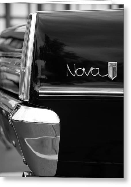 White Chevy Greeting Cards - 1966 Chevy Nova II Greeting Card by Gordon Dean II