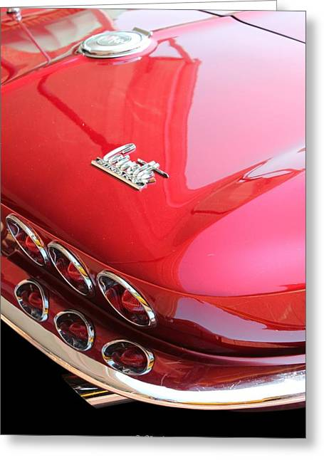 Betty Northcutt Greeting Cards - 1966 Corvette Stingray Greeting Card by Betty Northcutt