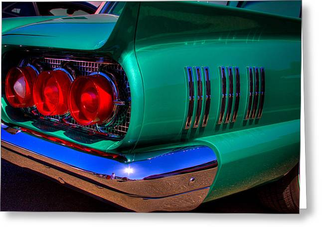 Mascots Greeting Cards - 1966 Ford Thunderbird Greeting Card by David Patterson