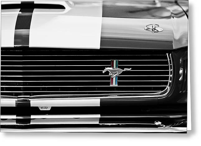 Famous Photographer Greeting Cards - 1966 Shelby GT350 Grille Emblem Greeting Card by Jill Reger