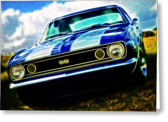 1967 Chevrolet Camaro Ss Greeting Card by Phil 'motography' Clark