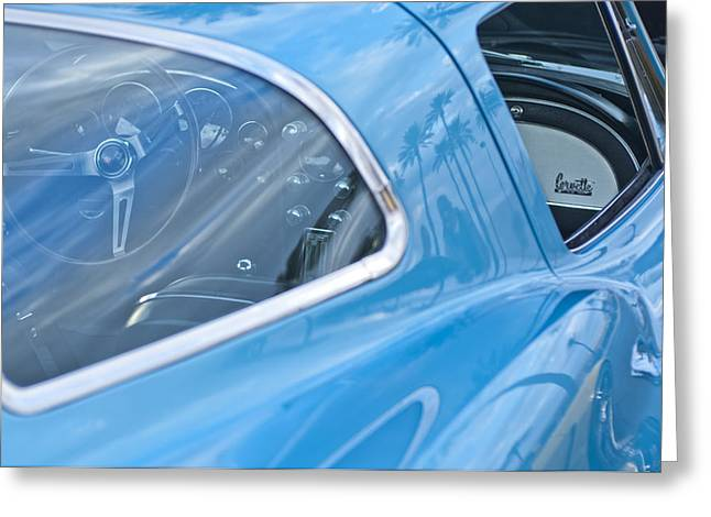 Famous Photographers Greeting Cards - 1967 Chevrolet Corvette 8 Greeting Card by Jill Reger