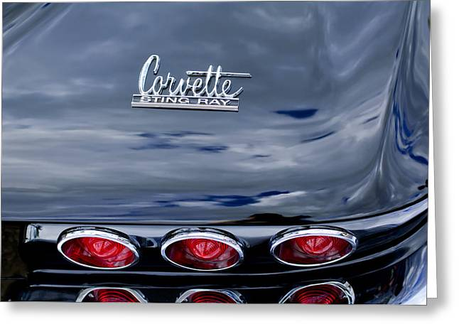 Famous Photographer Greeting Cards - 1967 Chevrolet Corvette Taillight 3 Greeting Card by Jill Reger