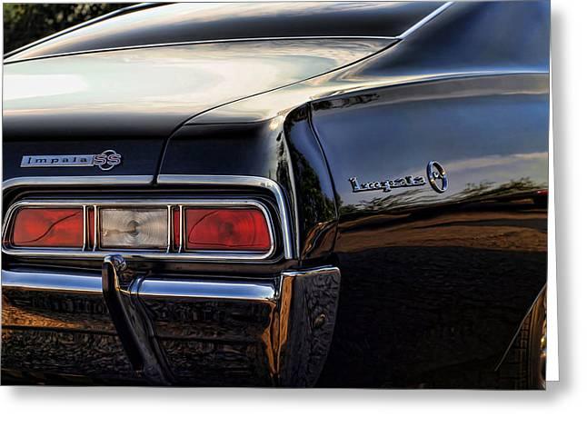 Vinatge Greeting Cards - 1967 Chevy Impala SS Greeting Card by Gordon Dean II