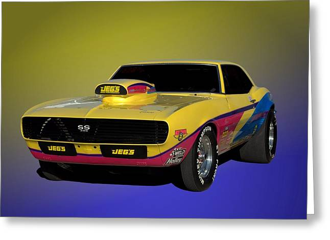 1968 Camaro Greeting Cards - 1968 Camaro SS 396 Dragster Greeting Card by Tim McCullough