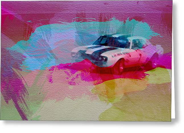 Cylinder Greeting Cards - 1968 Chevy Camaro Greeting Card by Naxart Studio