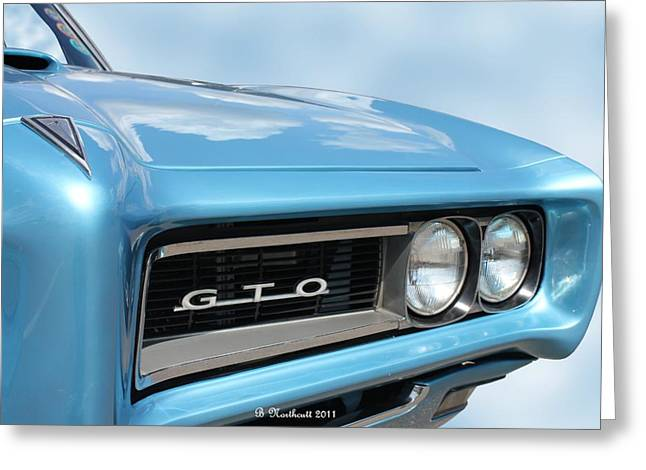 Betty Northcutt Greeting Cards - 1968 Pontiac GTO Greeting Card by Betty Northcutt