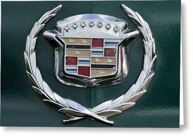 Famous Photographers Greeting Cards - 1969 Cadillac Eldorado Emblem 2 Greeting Card by Jill Reger
