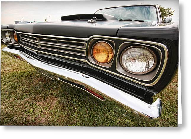 383 Greeting Cards - 1969 Plymouth Road Runner 440-6 Greeting Card by Gordon Dean II