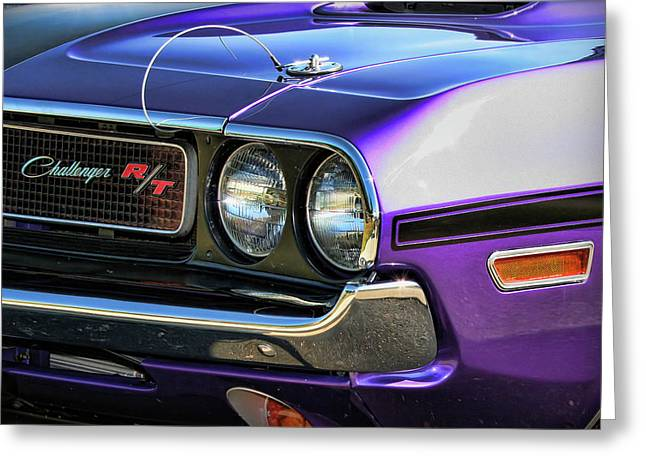383 Greeting Cards - 1970 Dodge Challenger RT 440 Magnum Greeting Card by Gordon Dean II