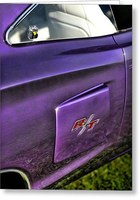 318 Greeting Cards - 1970 Dodge Coronet RT - Plum Crazy Purple Greeting Card by Gordon Dean II