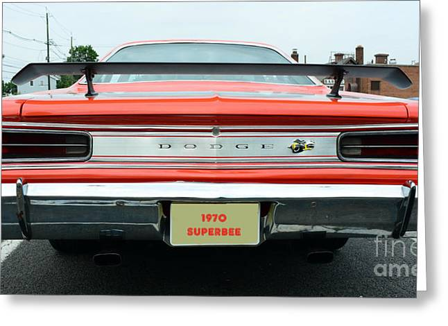 Spoiler Greeting Cards - 1970 Dodge Coronet Super Bee Greeting Card by Paul Ward