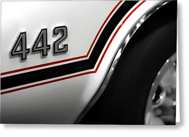 Black Top Greeting Cards - 1970 Olds 442 Indy 500 Pace Car Greeting Card by Gordon Dean II