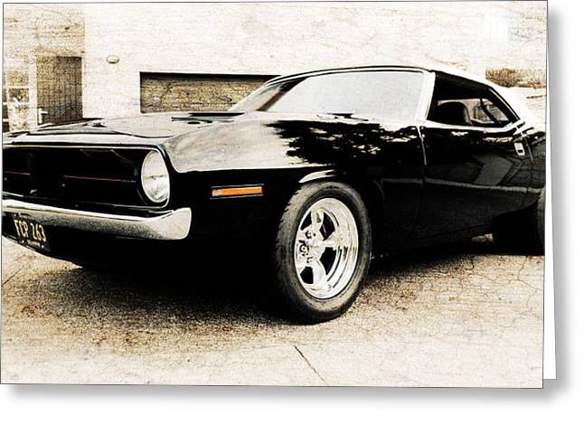 Aotearoa Greeting Cards - 1970 Plymouth Cuda Greeting Card by Phil