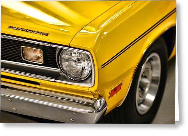 1970 Plymouth Duster 340 Greeting Card by Gordon Dean II