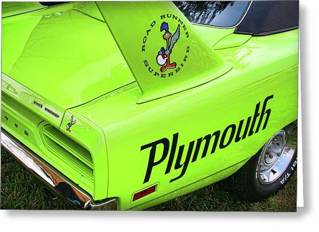 Mopar Greeting Cards - 1970 Plymouth Superbird Greeting Card by Gordon Dean II