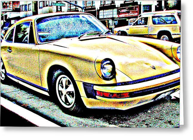 Samuel Sheats Greeting Cards - 1970s Era Porsche 911 Greeting Card by Samuel Sheats