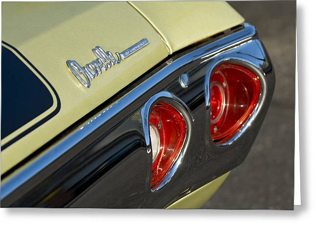 Chevelle Greeting Cards - 1971 Chevrolet Chevelle Malibu SS Tail Light Greeting Card by Jill Reger
