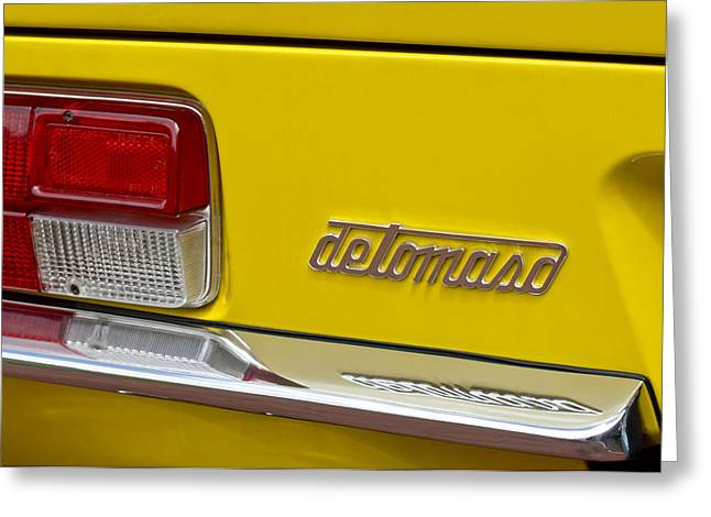 Famous Photographer Greeting Cards - 1971 DeTomaso Pantera Taillight Greeting Card by Jill Reger