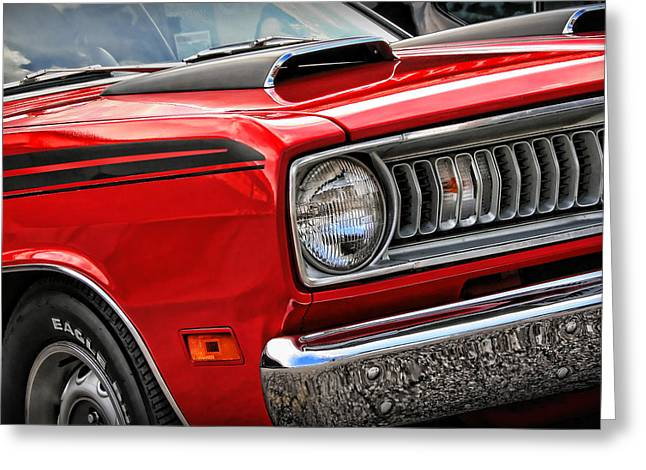 1971 Plymouth Duster 340 Greeting Card by Gordon Dean II