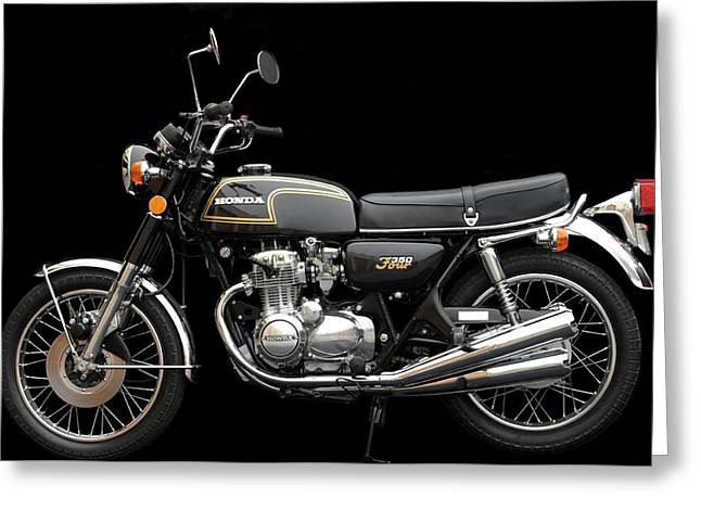 Honda Motorcycles Greeting Cards - 1974 Honda CB350 Four Greeting Card by William Jones