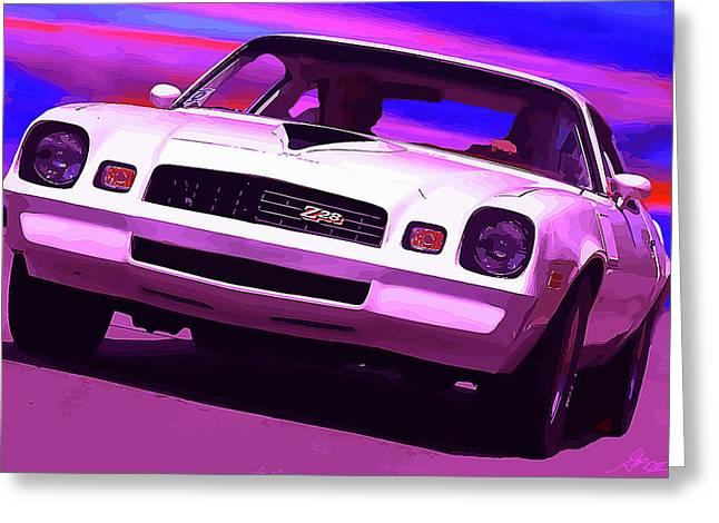 Dragway Greeting Cards - 1978 Chevy Camaro Z28 Greeting Card by Gordon Dean II