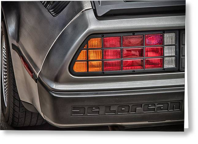 Dmc-12 Greeting Cards - 1981 DeLorean Greeting Card by James Woody