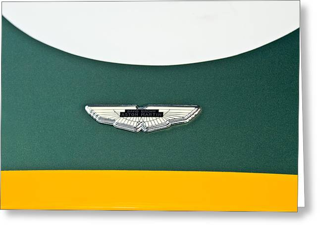 1993 Aston Martin Dbr2 Recreation Hood Emblem Greeting Card by Jill Reger