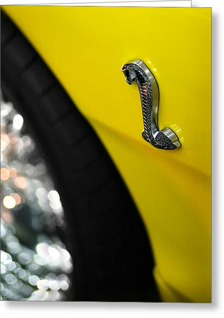 Yellow Cobra Greeting Cards - 1998 Ford Mustang Cobra Greeting Card by Gordon Dean II