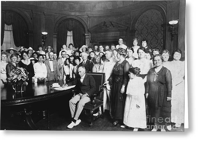 Women Suffrage Greeting Cards - 19th AMENDMENT, 1919 Greeting Card by Granger