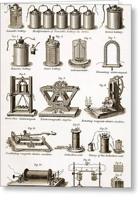 Ruhmkorff Coil Greeting Cards - 19th Century Electrical Equipment Greeting Card by Sheila Terry