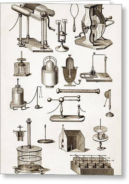 Technical Photographs Greeting Cards - 19th Century Electro-magnetic Equipment Greeting Card by Sheila Terry