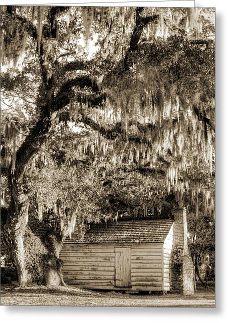 19th Century Photographs Greeting Cards - 19th Century Slave house Greeting Card by Dustin K Ryan