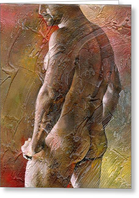 Men Mixed Media Greeting Cards - 1rst Moment Greeting Card by Chris  Lopez