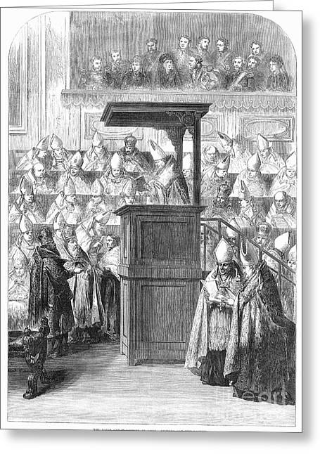 Decree Greeting Cards - 1st VATICAN COUNCIL, 1869 Greeting Card by Granger