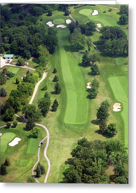 Plymouth Meeting Aerials Greeting Cards - 16th Hole Sunnybrook Golf Club Greeting Card by Duncan Pearson