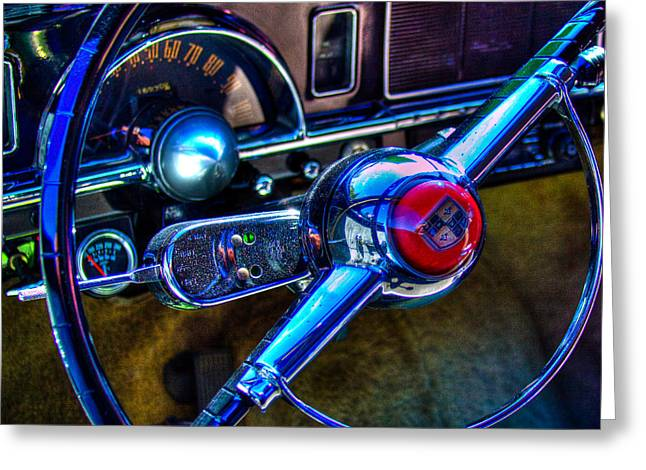 Collector Hood Ornament Greeting Cards - 1950 Studebaker Champion Greeting Card by David Patterson