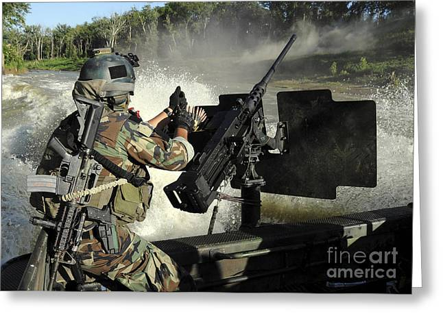 Reloading Greeting Cards - A Special Warfare Combatant-craft Greeting Card by Stocktrek Images