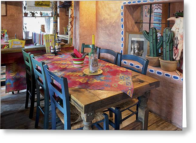 A Tex Mex Restaurant In The Town Greeting Card by Jaak Nilson