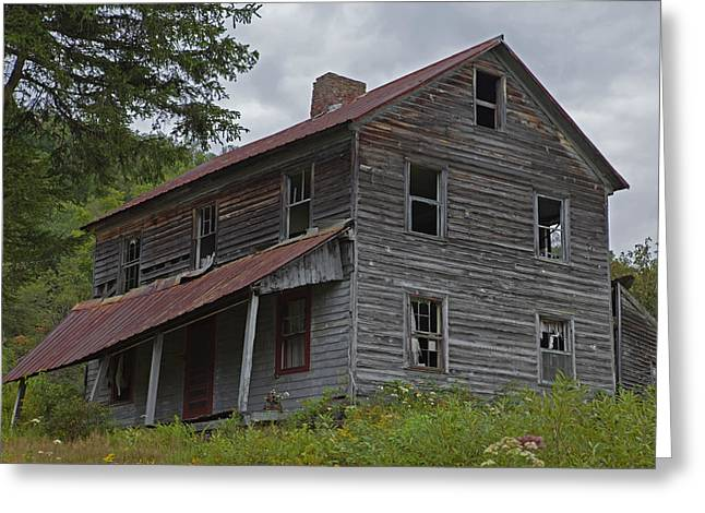 Run Down Greeting Cards - Abandoned Homestead Greeting Card by John Stephens