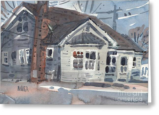 Abandoned Houses Greeting Cards - Abandoned House Greeting Card by Donald Maier