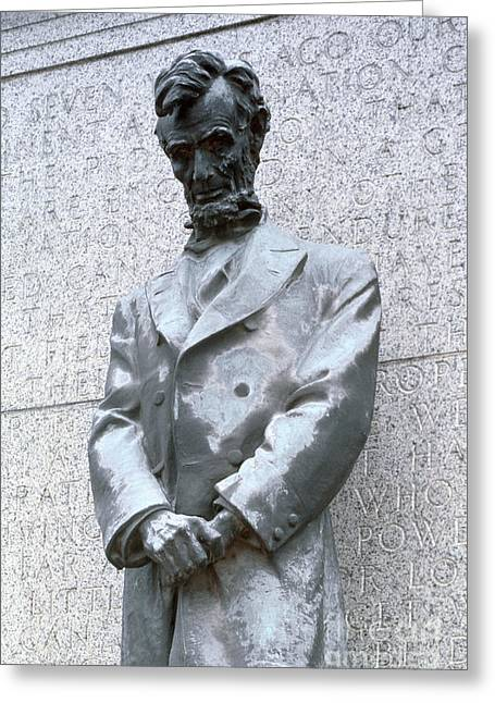 Abraham Lincoln Statue Greeting Card by Granger