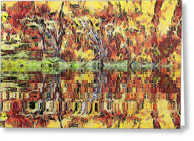 Recently Sold -  - Gold Lame Greeting Cards - Abstract artwork Greeting Card by Odon Czintos