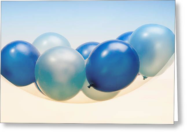 Life Line Greeting Cards - Abstract Balloon Greeting Card by Setsiri Silapasuwanchai