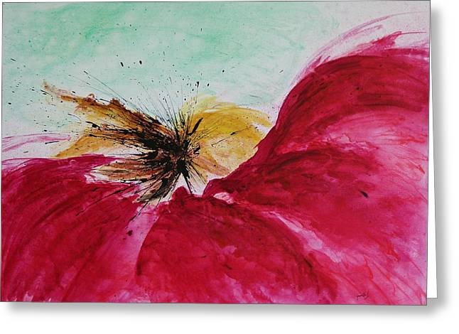 Ismeta Greeting Cards - Abstract Flower  Greeting Card by Ismeta Gruenwald