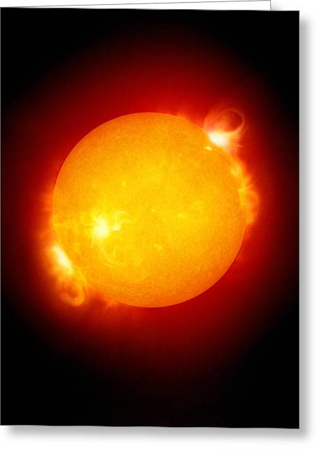 Ejection Greeting Cards - Active Sun Greeting Card by Detlev Van Ravenswaay