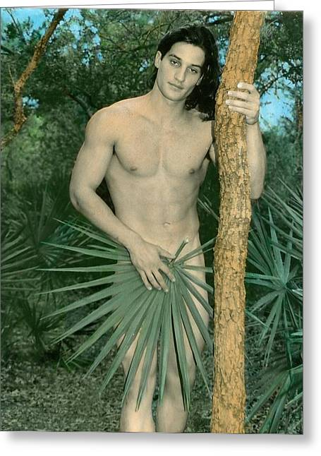 Paint Photograph Greeting Cards - Adam in Paradise Greeting Card by Jean-claude Poulin