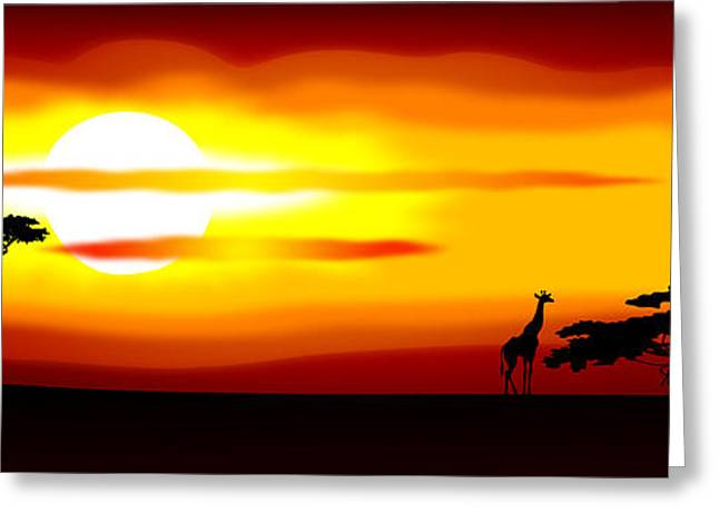 Gloaming Greeting Cards - Africa sunset Greeting Card by Michal Boubin