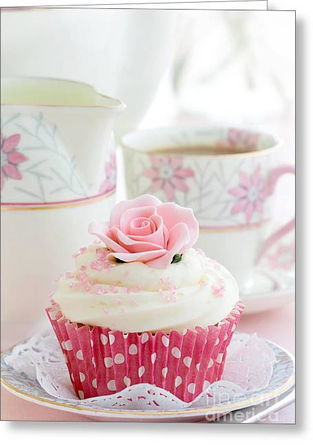 Tea Party Greeting Cards - Afternoon tea Greeting Card by Ruth Black